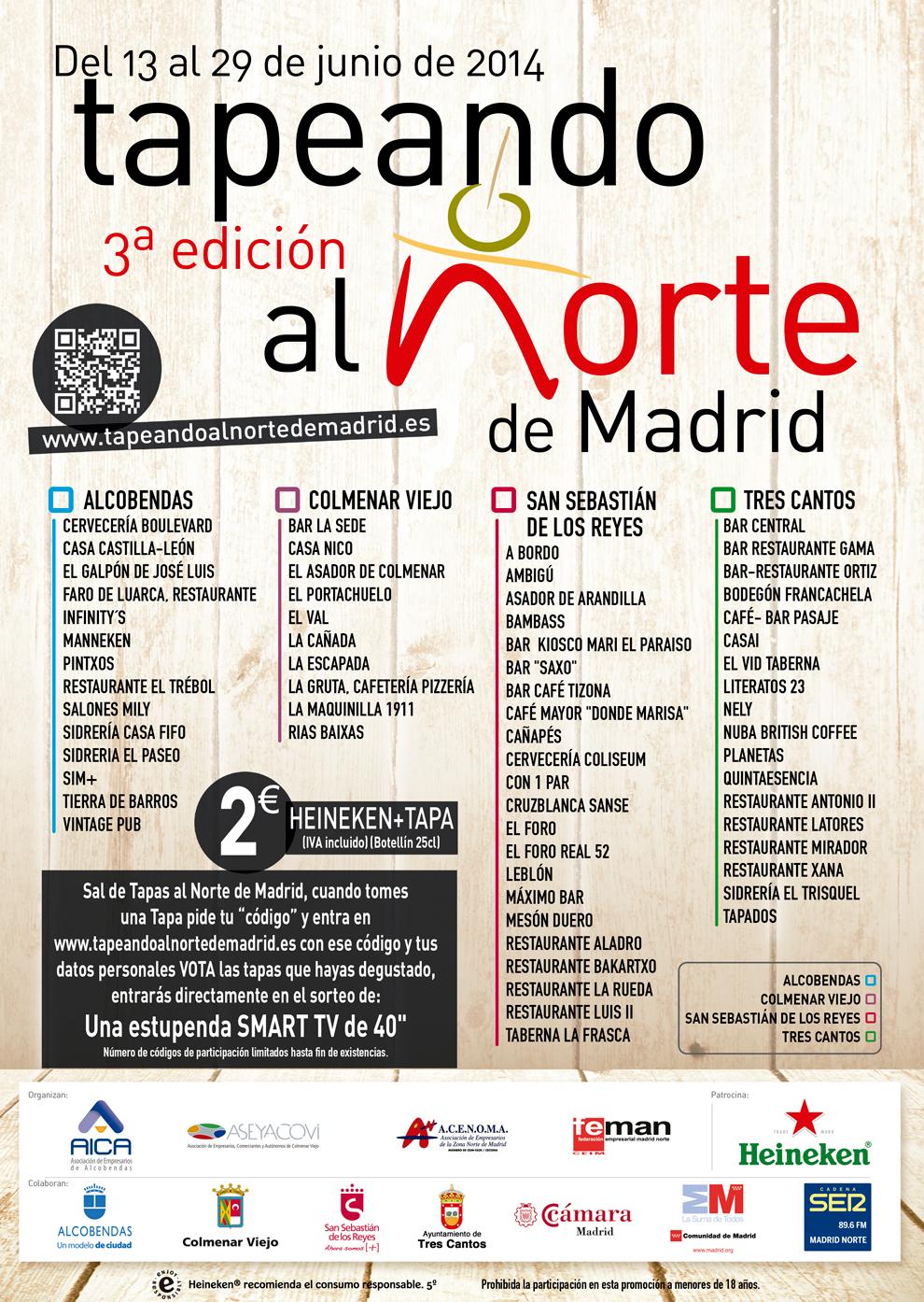 3ª Edición de Tapeando por Madrid